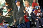 Jean Vanier et Jean-Pierre Crépieux sur scène