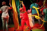 Ambiance survoltée avec la troupe de cirque de L'Arche à Beauvais.   ©Charlotte Dubois