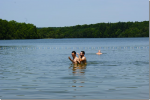 Sylvain et Lilian profite du Lac