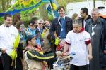 """La fanfare """"La grosse couture"""" accompagnait les marcheurs ©Ellen Teurlings"""