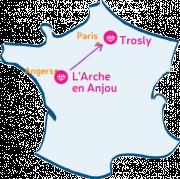 L'Arche en Anjou m'arche vers L'Arche à Trosly.