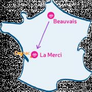 L'Arche à Beauvais descend en Charente, à La Merci.
