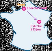 L'Arche d'Ecorchebeuf va rencontrer L'Arche à Dijon.