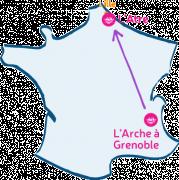 L'Arche à Grenoble m'arche vers L'Atre (Lille).