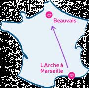 Carte marseille va à Beauvais.