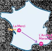 La Merci M'Arche vers L'Arche à Marseille.