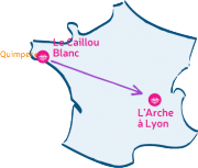 L'Arche Le Caillou blanc traverse la France pour rejoindre Lyon