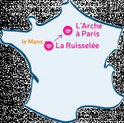 La Ruisselée m'arche vers L'Arche à Paris.