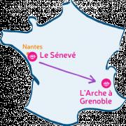 L'Arche Le Sénevé rencontre L'Arche à Grenoble.