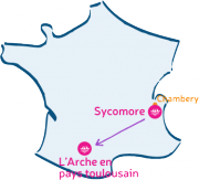 L'Arche Le Sycomore marche vers L'Arche en pays toulousain.