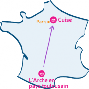 L'Arche en pays toulousain retrouvera L'Arche de Cuise, dans l'Oise.