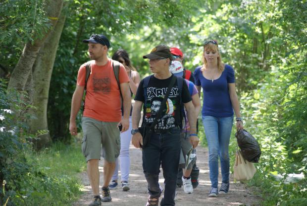 Promenade dans les marais près de Bourges (Jean-Luc, Mélanie et Vincent)