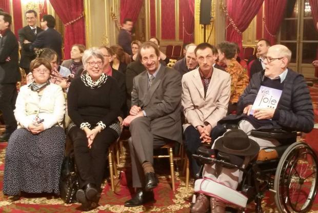 La petite délégation de L'Arche venue avec Jean-Pïerre