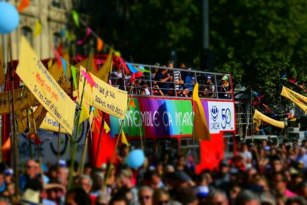 Arrivée de la marche Place de la république  ©François-Régis Salefran