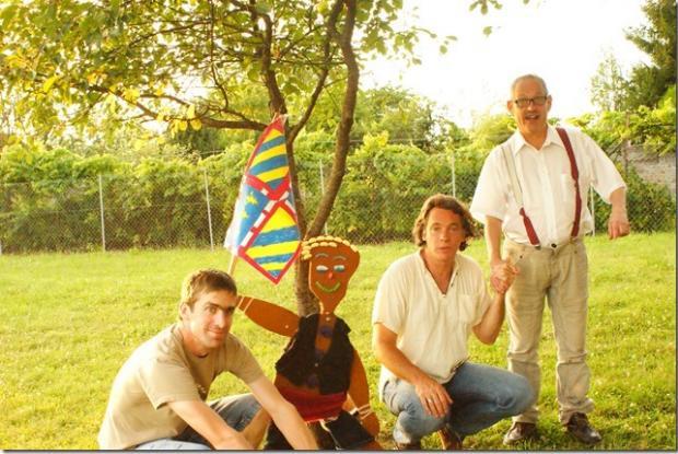 ause entre homme avec de gauche à droite Sébastien, Franck et Alain.G