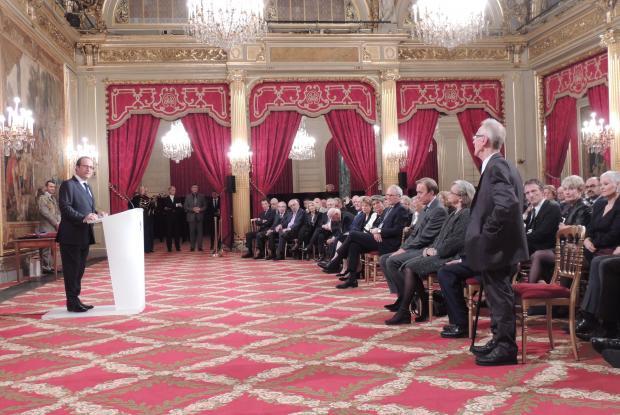 Message de François Hollande à Jean-Pierre Crépieux