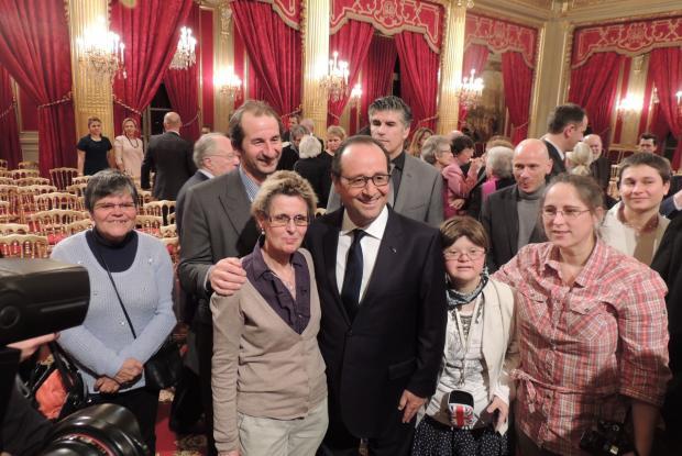Photos avec le Président