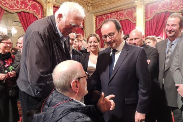 Echange entre François Hollande et Philippe Seux