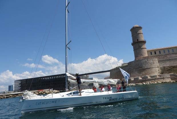 Flotille dans la rade du port de Marseille