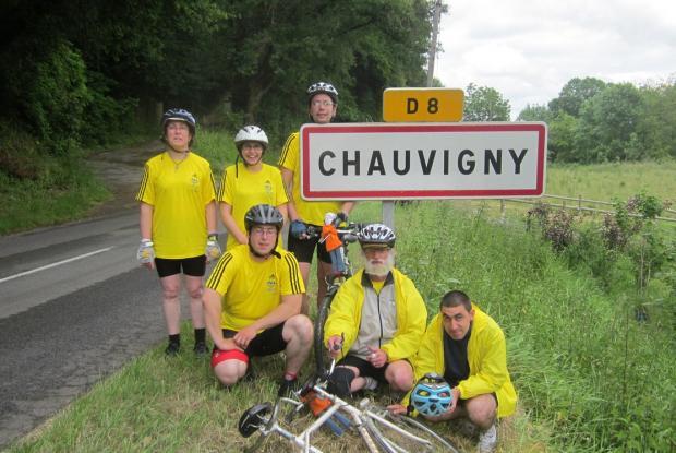 Arrivée à Chauvigny, 3e étape