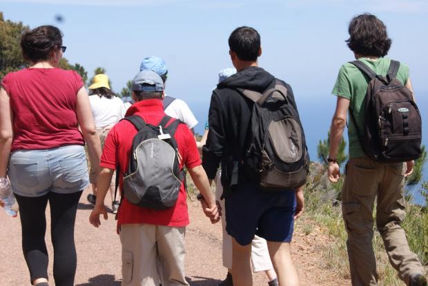 En route ! Justine, Arslan, Ghislain et Emiliano.
