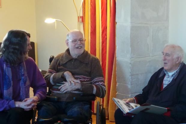 Hazel, Philippe et Jean le 20 décembre à L'Arche